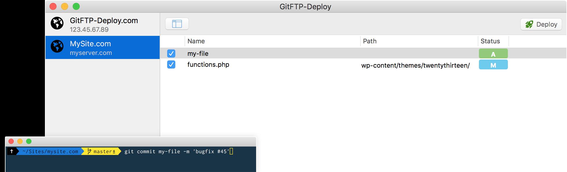GitFTP-Deploy 2.7.1 Mac 破解版 优秀的FTP 上传部署工具-麦氪派